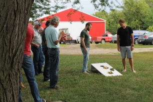 IMG_4040 Playing Corn Hole Game